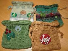 the creative skein knitted gift bags