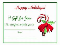 Gift Certificate Prints Free Holiday Gift Certificates Templates To Print