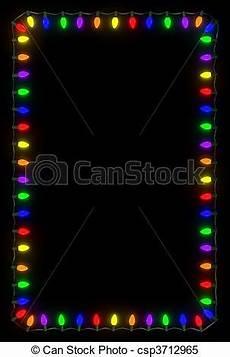 Christmas Black Light Drama Christmas Lights Frame Christmas Lights Frame On Black