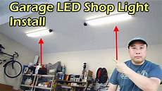 Best Lighting For Machine Shop Garage Led Shop Light Fixture Replaces Fluorescent Youtube