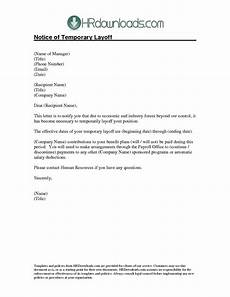 Layoff Letter Notice Template Category Page 5 Efoza Com