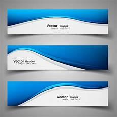Header Blue Shiny Blue Wavy Headers Free Vector