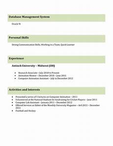 Different Resume Templates 9 Best Different Types Of Resumes Formats Sample Best