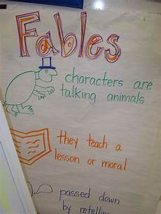 Fable Anchor Chart 2nd Grade Pin On Reader S Workshop