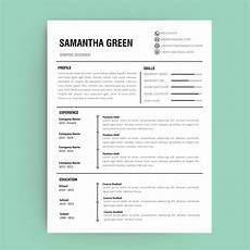 Editable Resume Template Resume Template Graphic Amp Website Design Paper Craft