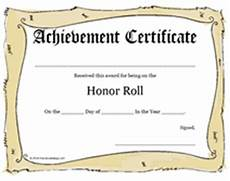 Honor Roll Certificate Templates Printable Honor Roll Awards School Certificates Templates