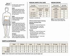 Ralph Dress Shirt Size Chart Size Chart Mens Shirts And Outwear Size Chart With