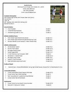 College Recruiter Resume Soccer Recruiting Resume Google Search Math Coach