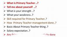 Teacher Interview Questions With Answers Primery Teacher Primary Teacher Interview Questions In