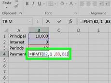 How To Calculate Mortgage Payment In Excel How To Calculate An Interest Payment Using Microsoft Excel