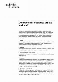 Freelance Contract Contract For Freelance Artists Developers And Staff