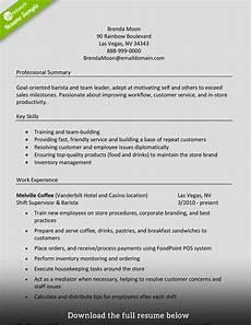 Working Skills Resume Barista Good Resume Examples Resume Skills Resume Examples