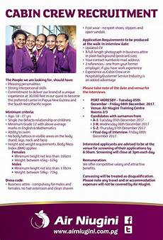 description of cabin crew vacancies cabin crew with air niugini png ehow