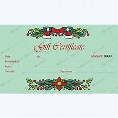 Gift Certificate Ideas For Christmas Christmas Gift Certificate Template 30 Word Layouts