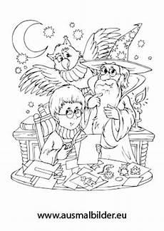 ausmalbild merlin der zauberer kostenlos ausdrucken
