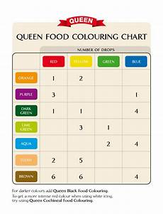 Food Coloring Chart Queen Food Colouring Chart Food Coloring Chart