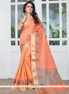 buy peach banarasi silk designer traditional saree
