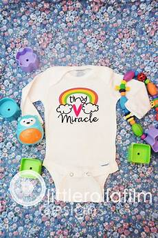 Miracle Baby Designs Infant Baby Bodysuit Tiny Miracle Rainbow Design Rainbow