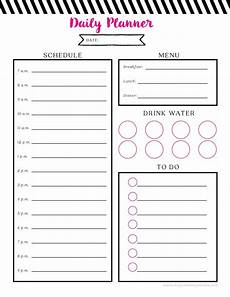 Daily Printable Planner Free Printable Daily Planner
