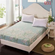 white flowers cotton fitted sheet single bed sheets