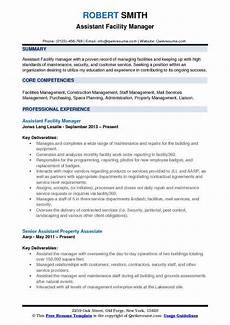 Facilities Manager Resume Assistant Facility Manager Resume Samples Qwikresume
