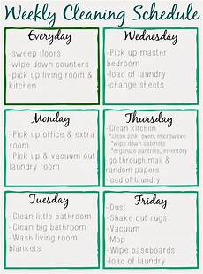 Printable Cleaning Schedule Template Orchard Girls Free Printable Cleaning Schedule