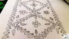 Nakshi Kantha Design How To Art Nakshi Kantha Design Bedsheet Design Youtube