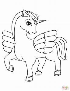 winged unicorn coloring page free printable