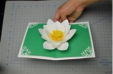 pop up card template flowers s day lotus flower pop up card tutorial creative