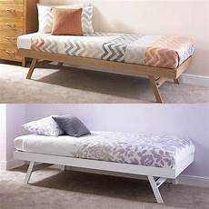 madrid wooden 3ft single day bed frame trundle guest