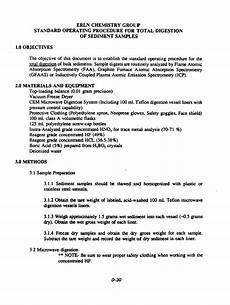 Erln Chemistry Group Standard Operating Procedure For