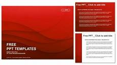 Red Powerpoint Waves Of Red Powerpoint Templates