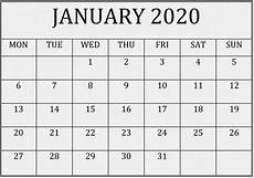 Type In Calendar Yahoo Free Printable Calendar 2020 That You Can Type In
