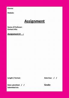 Cover Page For Assignment Free Download Study Binder Downloads Study Read Write