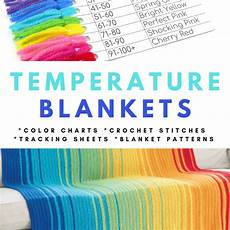 Blanket Chart Temperature Blankets Crochet Patterns Color Charts And