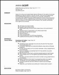 Clerical Resume Template Free Creative Clerical Officer Resume Template Resume Now