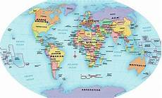 World Map Labels World Map Continent And Country Labels Digital Art By