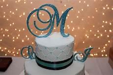 swarovski crystal monogram cake topper weddingbee photo