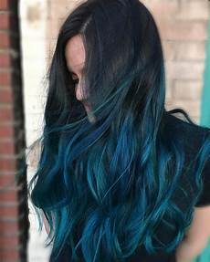 blue ombre hair color light and shades 2017
