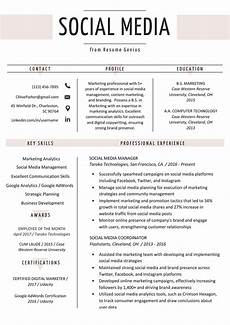 Resume Content Tips Social Media Resume Example Amp Writing Tips Resume Genius