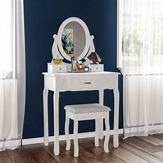 nishano dressing table 3 drawer with stool white bedroom
