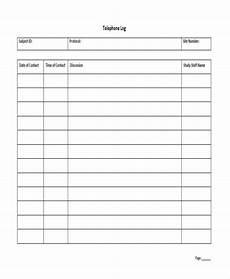 Printable Call Log Free 17 Call Log Templates In Pdf