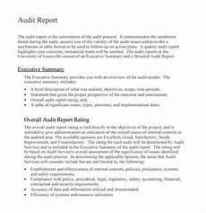 Audit Report Template Free 16 Sample Audit Reports In Pdf Ms Word