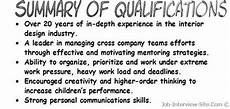 Examples Of Qualifications For Resumes Resume Qualifications Examples Resume Summary Of