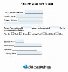 Annual Rent Receipt Template by Free Printable Rent Receipt Template