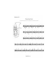 Baritone B C Chart Printable Pdf Download