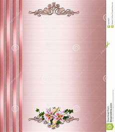 formal invitation background designs wedding invitation border pink satin stock images image