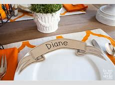 Printable Paper Banner Dinner Plate Place Card   In My Own