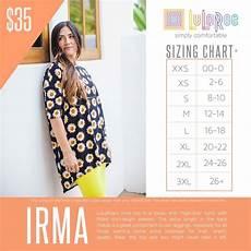 Sizing Chart For Lularoe Irma 2016 Lularoe Irma Sizing Chart Lularoe Irma Size Chart