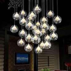 Ball Ceiling Light 36 Lights Modern Led Glass Ball Ceiling Light Living Room
